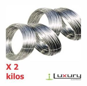 Alambre Acerado Cerca Eléctrica #m/kg Apx) Ø=3mm 2kg