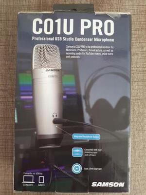 Microfono Usb Samson C01u Pro Para Mac O Pc, Como Nuevo