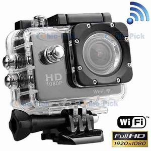 Camara Wifi Deportiva Full Hd p Sumergible
