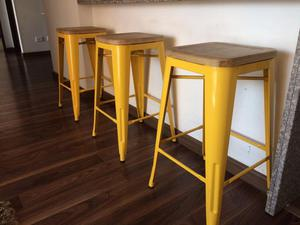 Excelentes sillas para barra estilo rustico posot class for Sillas para barra
