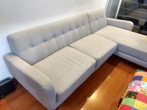 Sofa Gris Sala Marca Muebles Y Accesorio