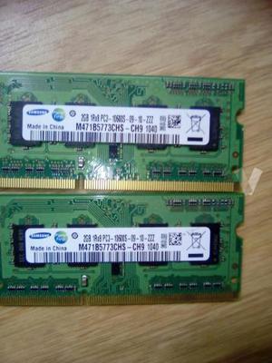 Memoria Portatil Ddr2 y Ddr3 de 1gb y 2gb