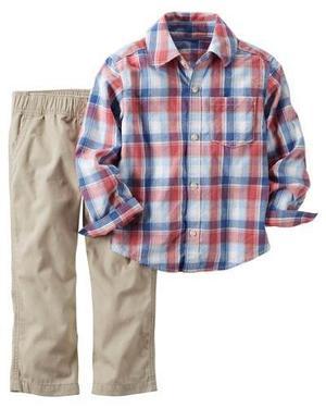 Camisa Pantalón Carter's 24 Meses Set 2 Pzas Niño