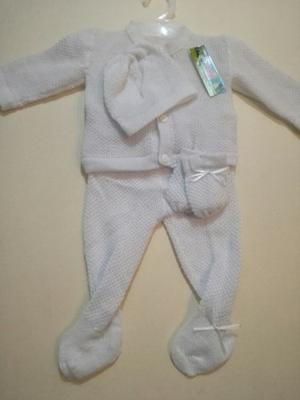 Primer Ajuar Bebé Tejidos Primera Muda Recién Nacido