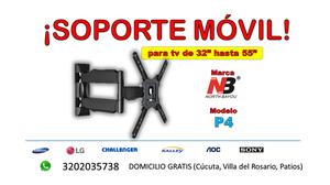¡SOPORTE MÓVIL PARA TV DE 32 A 55!