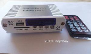 Mini Mp3 Usb Sd Digital Reproductor Fm Radio Control Remoto