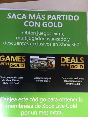 Tarjeta Xbox Live 1 Mes