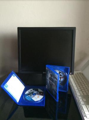 Vendo Monitor Dell 17 pulgadas, 2 Juegos ps4 y Teclado Mac