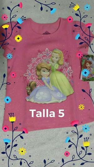 Blusa de Princesita Sofia Talla 5 Nueva