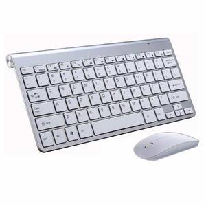 Combo Teclado + Mouse Inalámbrico Pc Tipo Mac Apple