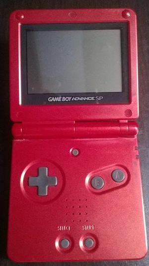 GameBoy Advance SP 001 edición rojo fuego