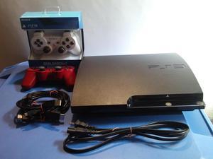 Playstation 3 Slim 120 GB 2 controles Todo Como Nuevo