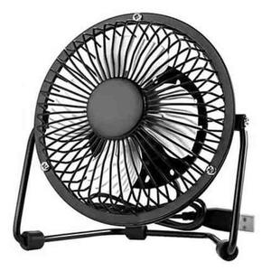 Ventilador Usb Portátil 20cm Para Pc, Metálico / Ajustable