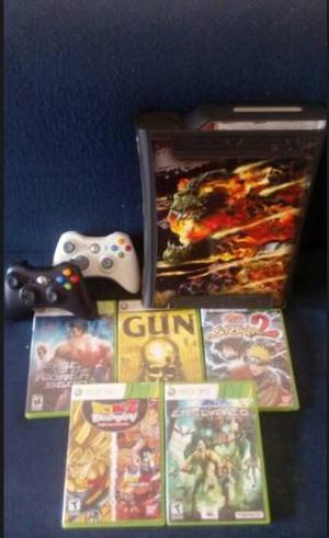 Xbox 360 Elite 120gb Con 2 Controles, 35 Juegos.