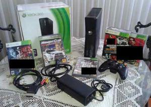 Xbox 360 Slim 4 Gb 1 Control + Pack De Juegos