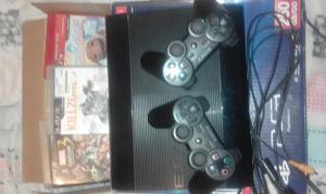 ps3 ultra slim de 250 gb mas juegos!!