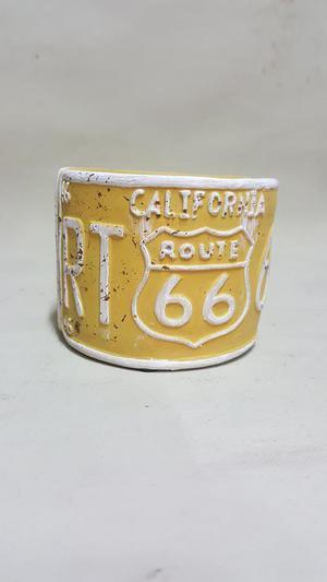 VASIJA CALIFORNIA RUTA 66 U.S.A. EN CERAMICA VINTAGE