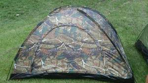 Carpa Camping Camuflada 4 Personas 2x2x1.35 M Impermeable