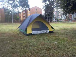 Carpa Con Sobre Carpa Para 5 A 6 Personas Camping