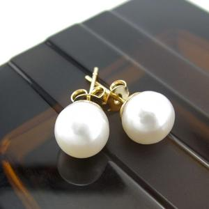 Aretes Perlas Cultivadas Mujer Chapado En Oro Lindas Joyas