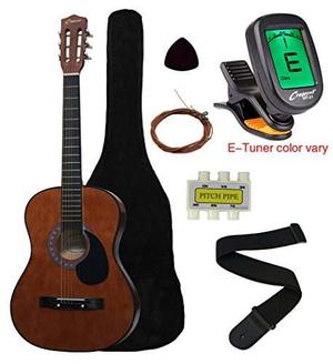Media Luna Mg38-cf 38 Guitarra Acústica Starter Package,
