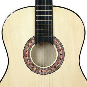 Nueva Guitarra Acústica Natural + Funda + Correa +