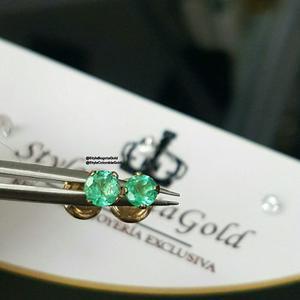 Topos En Oro 18k - Esmeraldas
