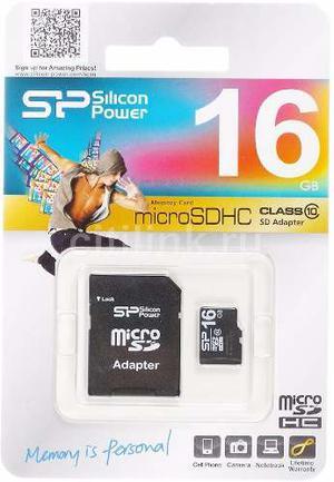 Memoria Micro Sd 16gb Clase 4 Silicon Power Blister Sellado
