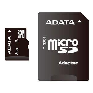Memoria Micro Sd 8 Gb Adata Original Clase 4 + Adaptador