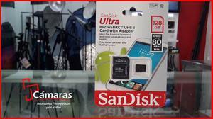 Memoria Micro Sd Sandisk Ultra De 128gb A 80mb/s Clase 10