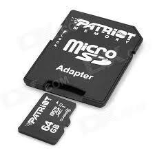 Micro Sd 64 Gb Clase 10 Patriot