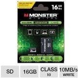 Monster Digital 16gb Sdhc Micro Tarjeta De Memoria Sd (sdus