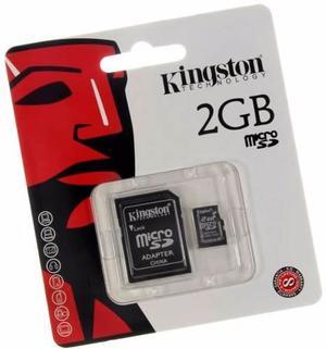 Tarjeta De Memoria Micro Sd De 2 Gb Con Adaptador Kingston