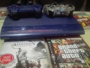 Playstation 3 Con 2 Controles Y 4 Juegos