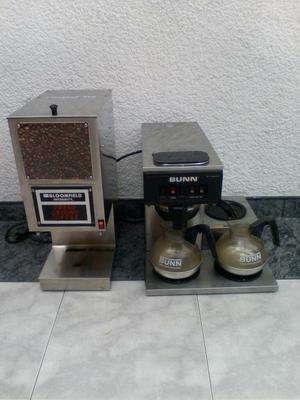 Cafetera con Molino Bunn