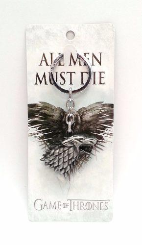 Game Of Thrones Casa Stark Llavero Plateado Metálico