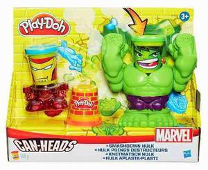 Hulk Avengers Marvel Play Doh,can Heads Ref: B Hasbro