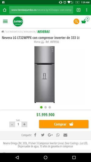 Nevera Inverter 333 Litros Nueva