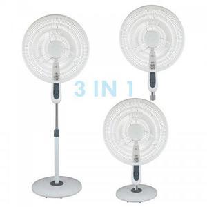Ventilador Blanco 3 En 1: Pedestal, Sobremesa, Pared,