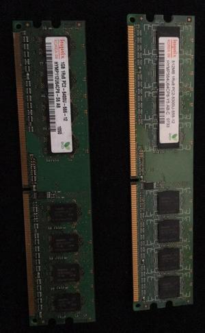 Memorias Ram 1G Y 512Mb