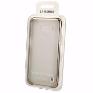 Carcasa Clear Cover Samsung Galaxy S7 Edge, Gold Original.