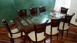 Comedor 6 puestos se vende con 8 sillas posot class for Comedor 8 puestos bogota