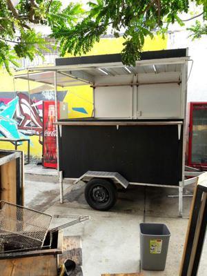 Food Truck Carrito Comidas Rápidas con trailer casi nuevo.