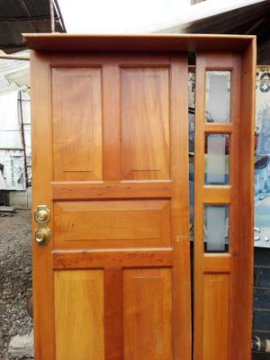 Puerta entrada principal posot class for Precios de puertas de madera entrada principal