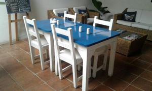 juegos sala y comedor mesa y sillas laqueadas posot class