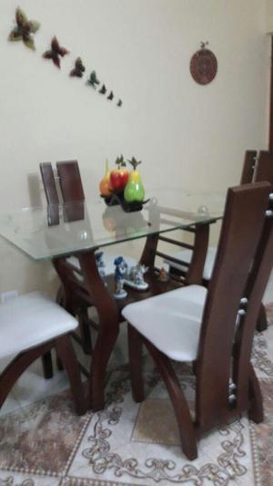 Vendo comedor moderno 4 puestos mesa vidrio posot class for Comedor 4 puestos madera