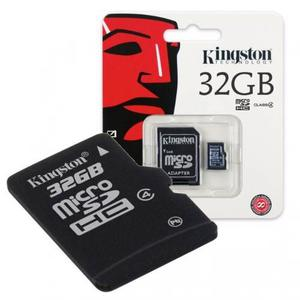 Memoria Micro Sd 32 Gb Kingston + Adaptador Sd Original