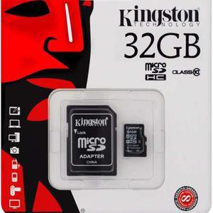 Memoria Micro Sd De 32gb Clase 10 Kingston Original 45mbs