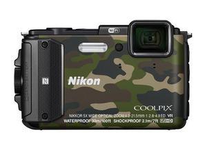 Nikon Coolpix Aw130 Del Choque Y Del Impermeable Gps Cámara