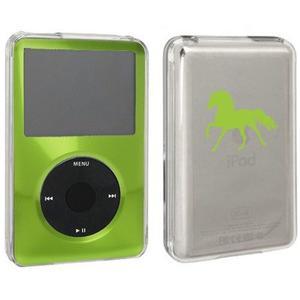 Green Apple Ipod Classic Cubierta Dura De La Caja 6th 80gb